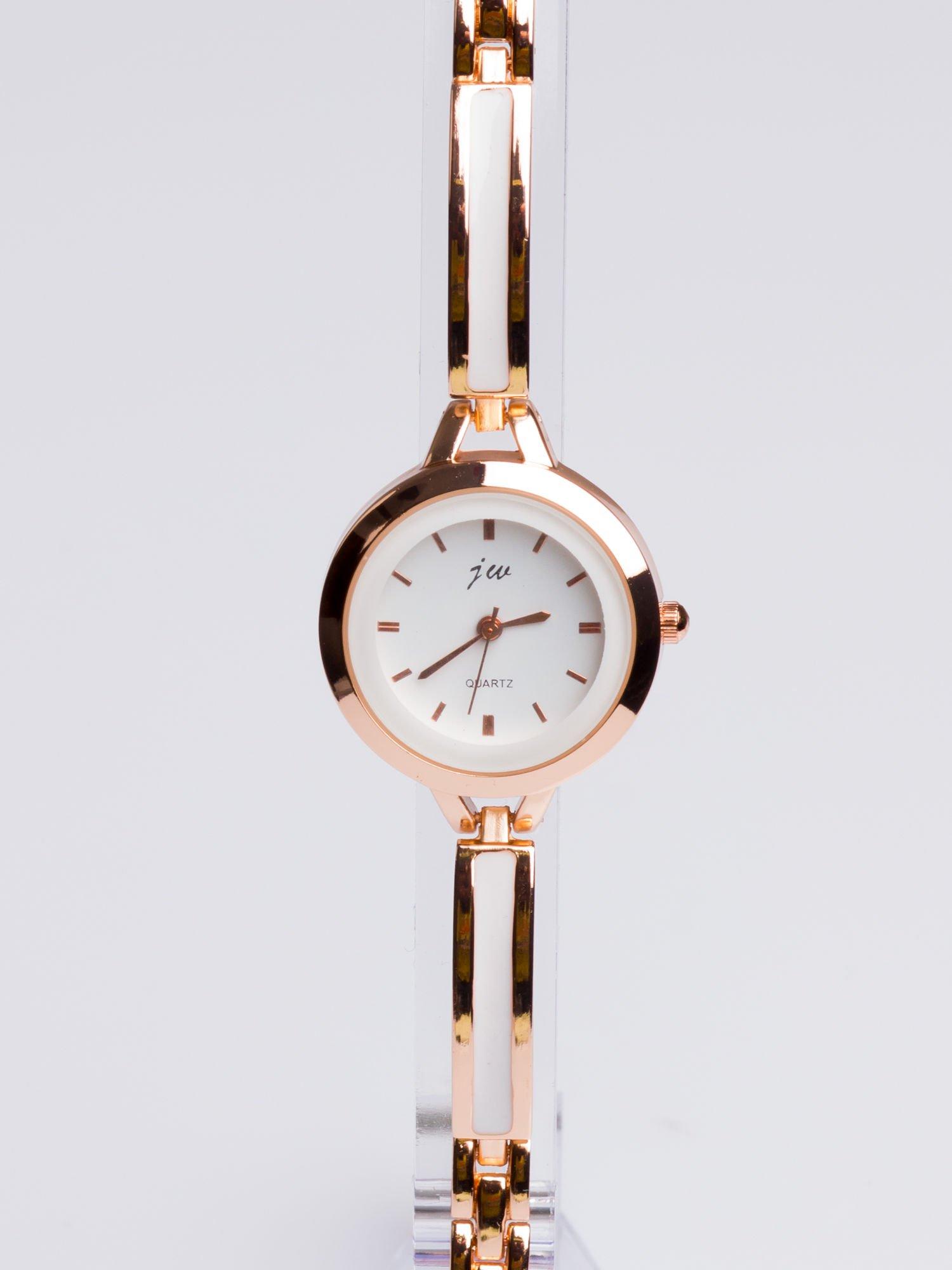 Złoty elegancki i delikatny zegarek damski                                  zdj.                                  3