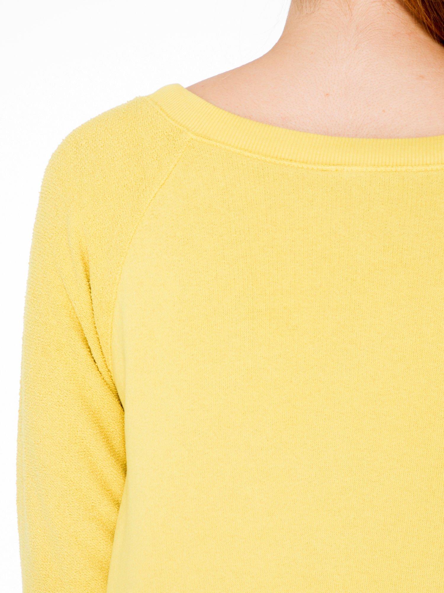 Żółta bluza oversize z łączonych materiałów                                  zdj.                                  7