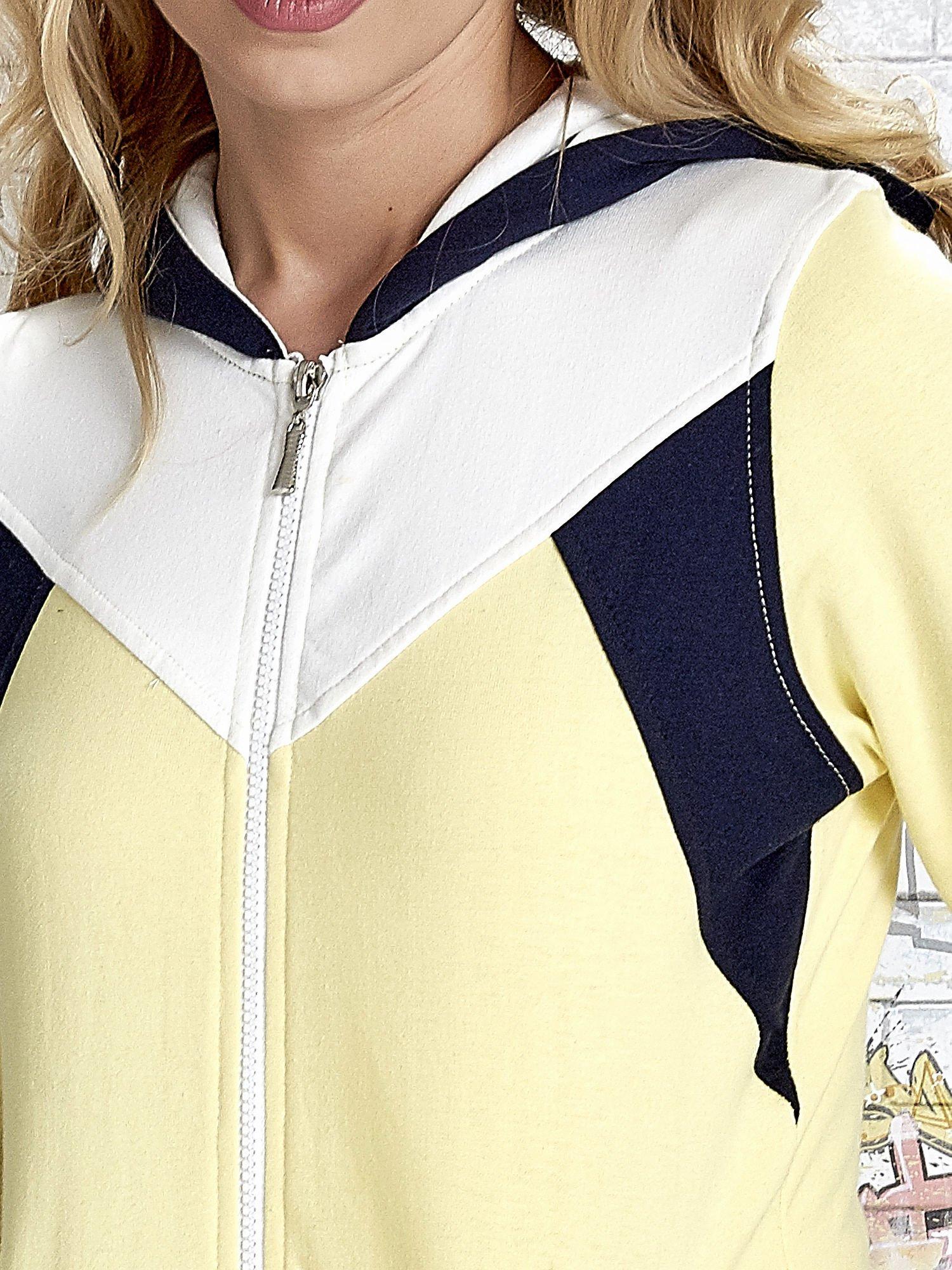 Żółta bluza z granatowymi wstawkami                                  zdj.                                  6