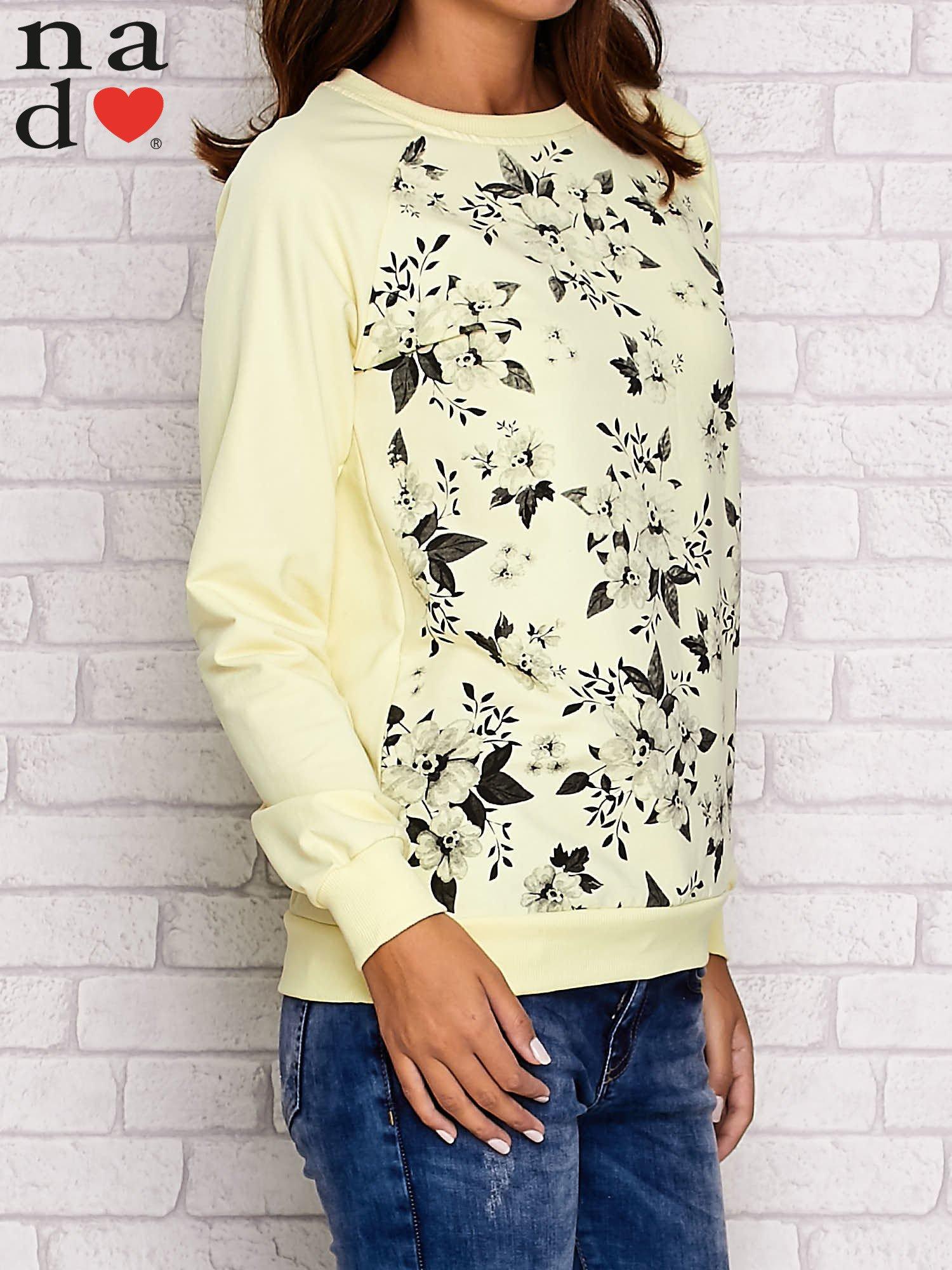Żółta bluza z kwiatowym nadrukiem                                  zdj.                                  3