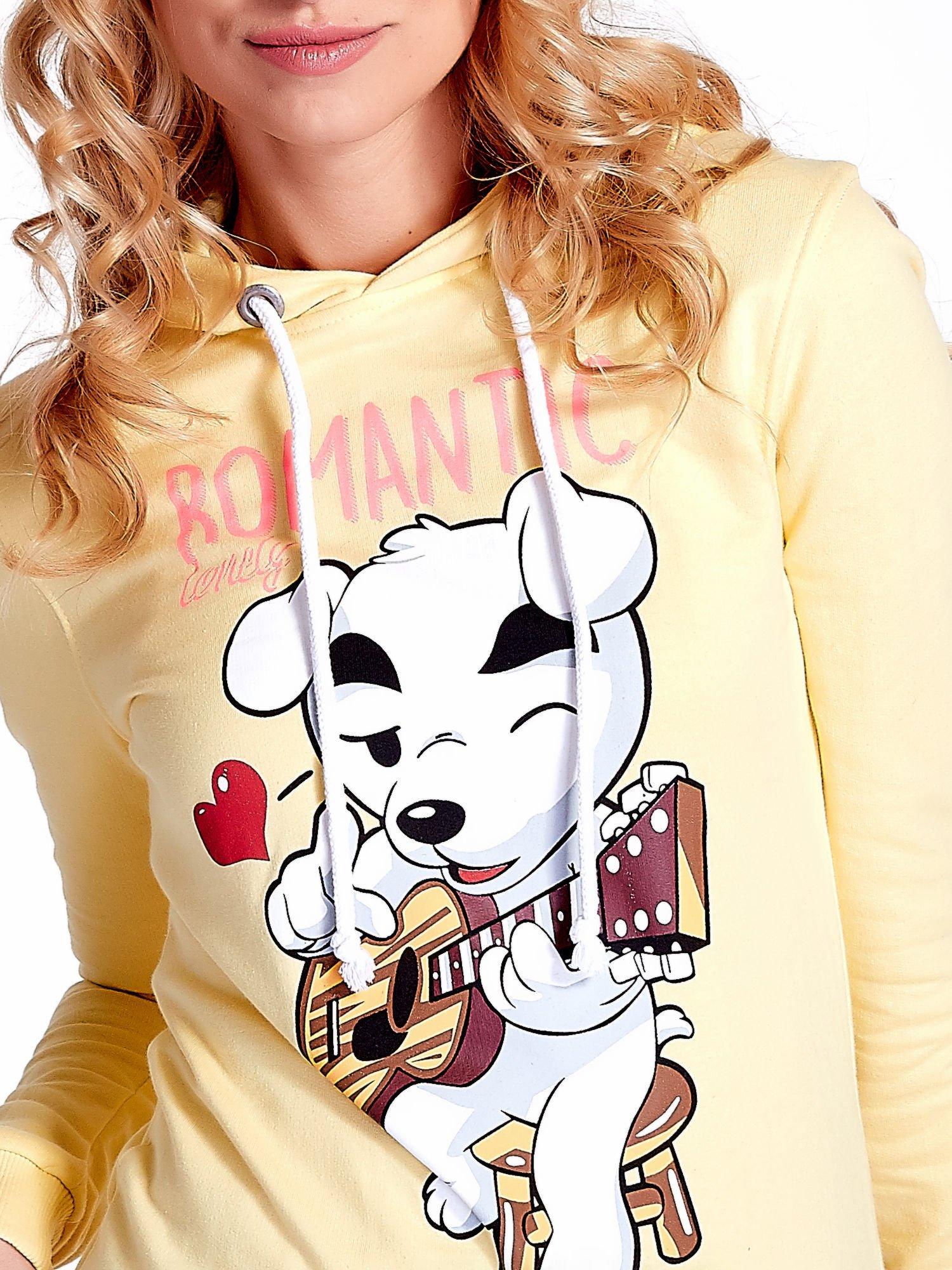 Żółta bluza z nadrukiem psa                                  zdj.                                  6