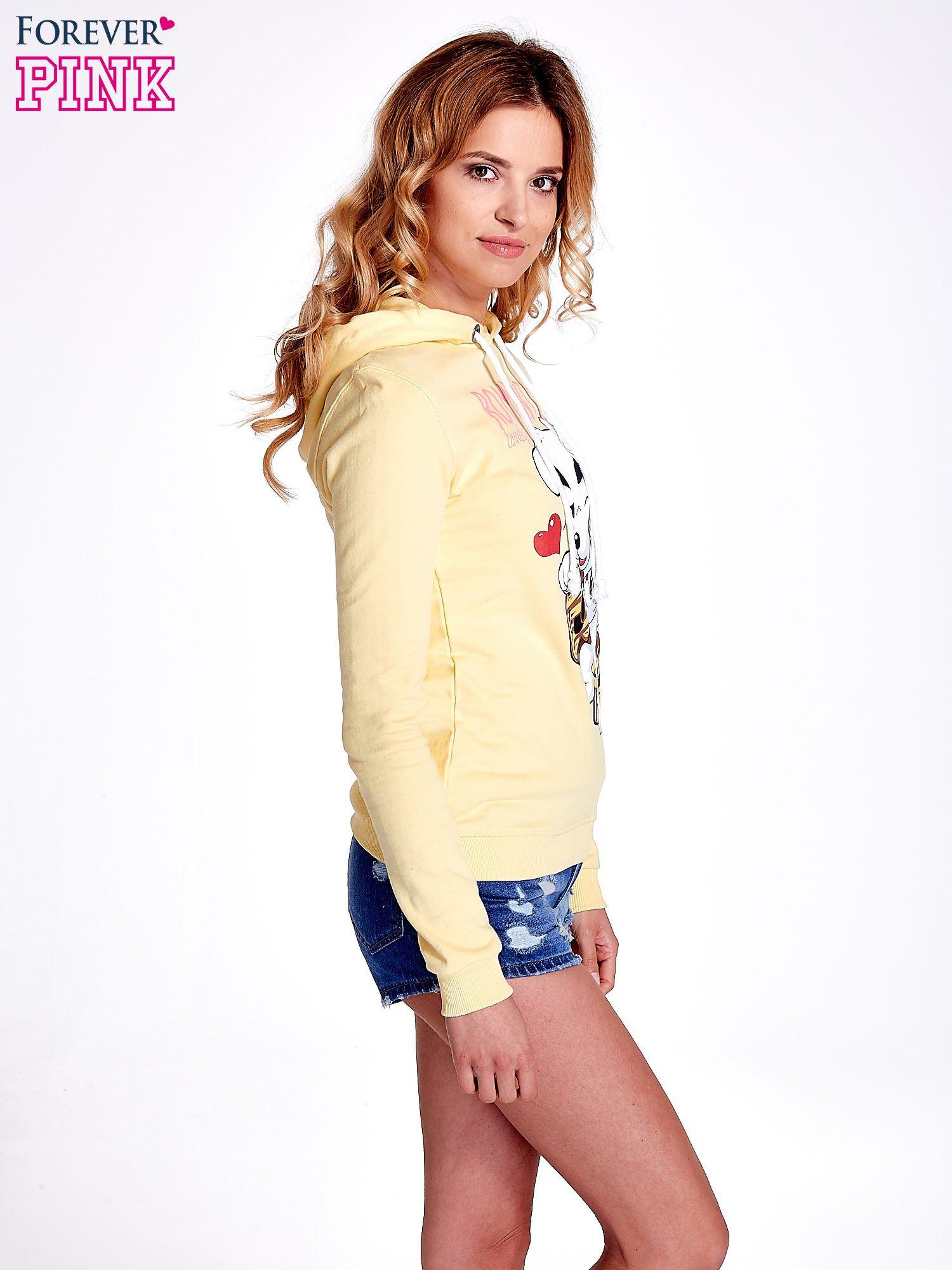Żółta bluza z nadrukiem psa                                  zdj.                                  3