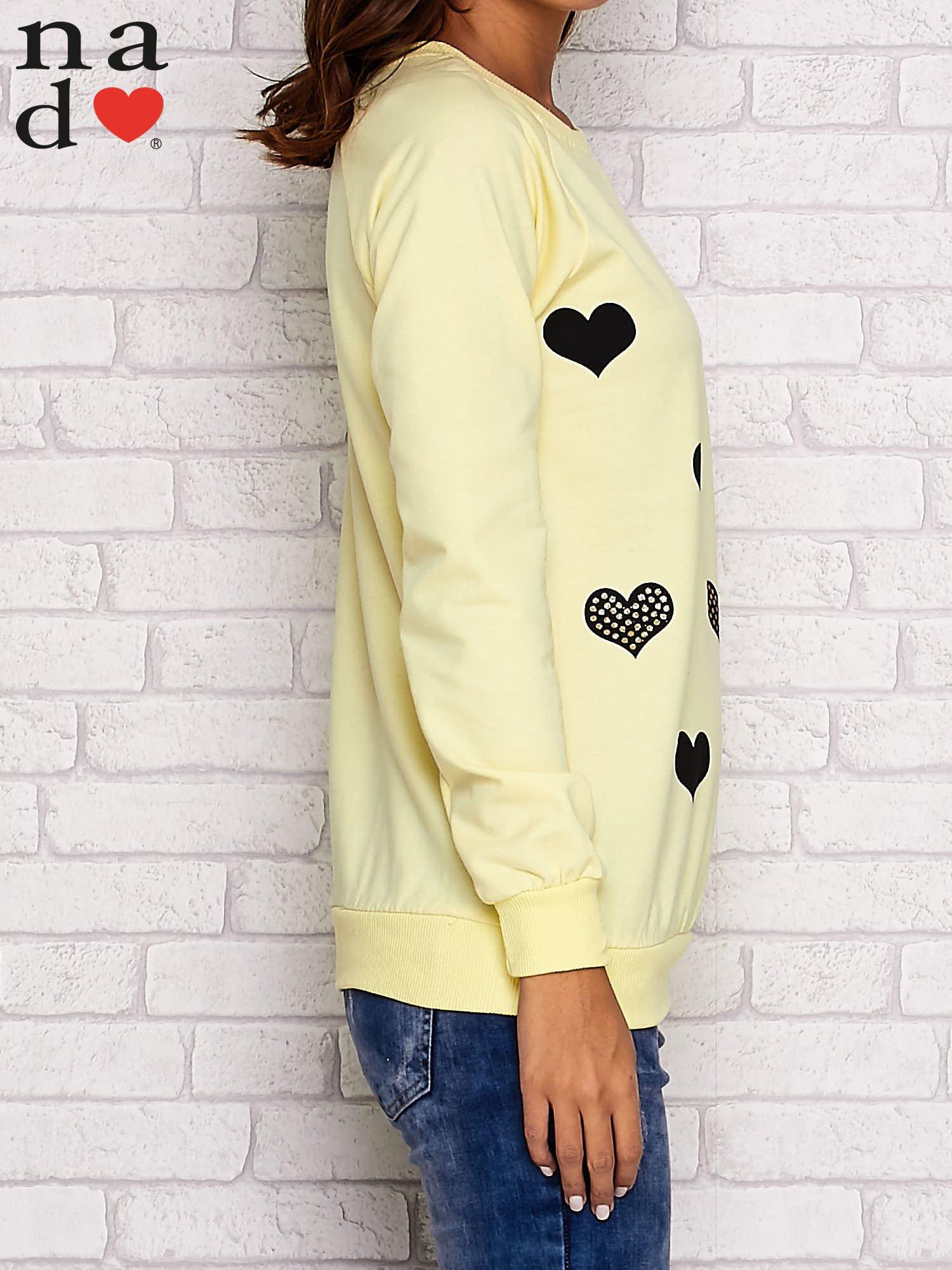 Żółta bluza z serduszkami                                  zdj.                                  2