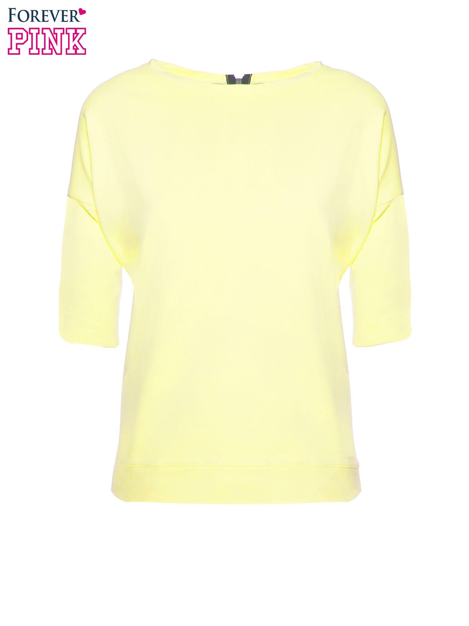 Żółta bluza z suwakiem z tyłu                                  zdj.                                  2