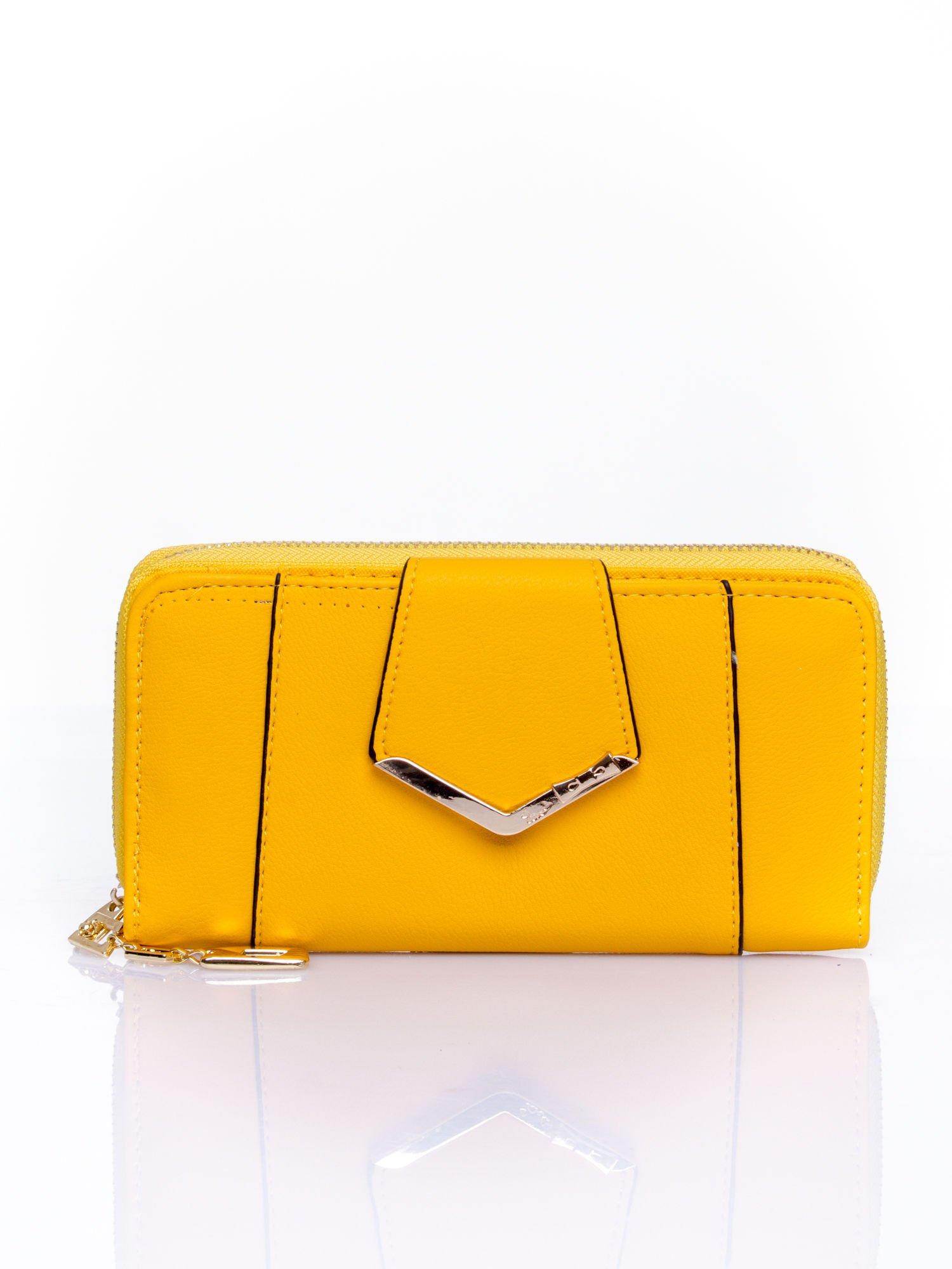 Żółty portfel ze złoconą klamrą                                  zdj.                                  1