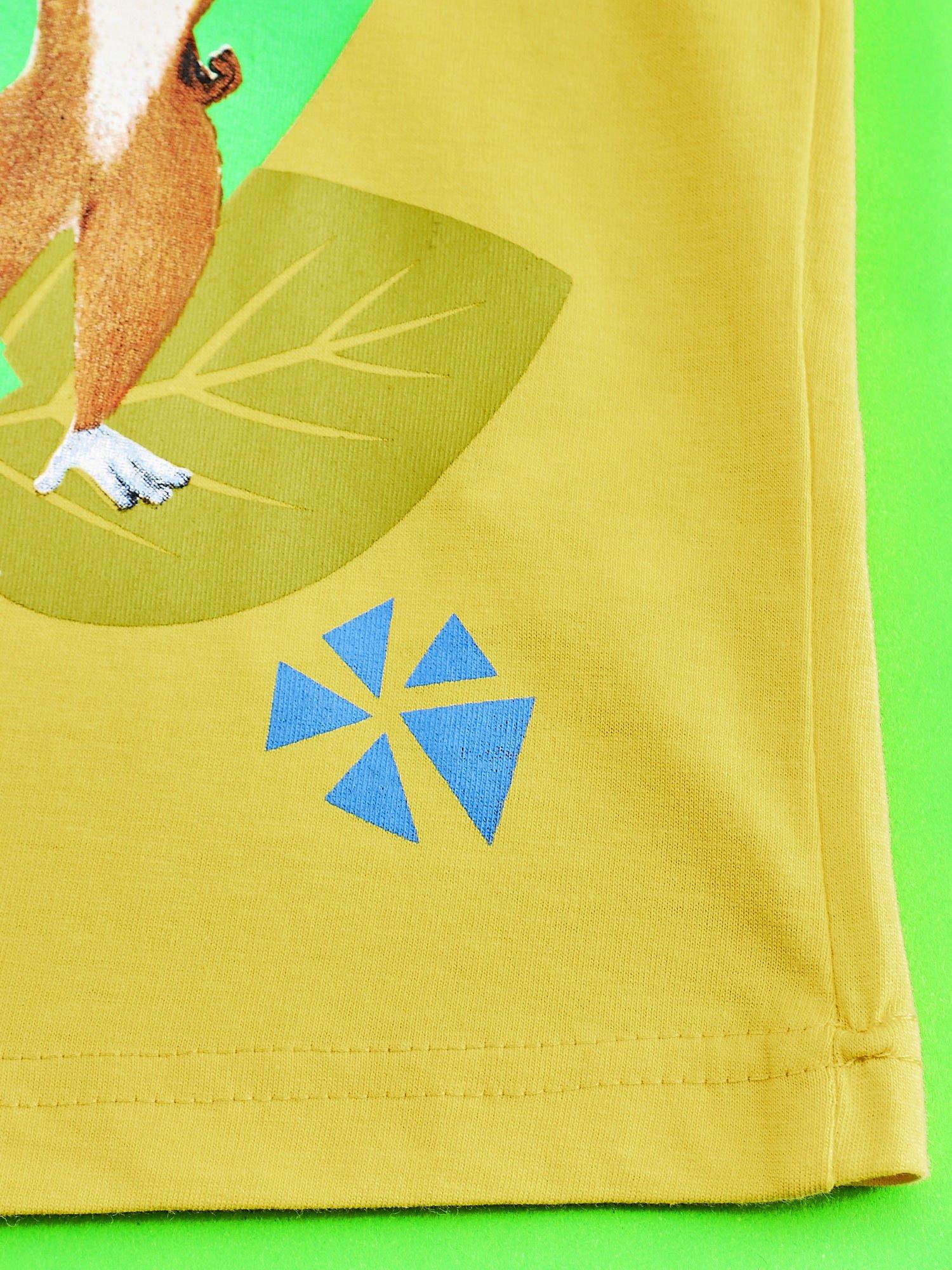 Żółty t-shirt chłopięcy KRÓL JULIAN                                  zdj.                                  5
