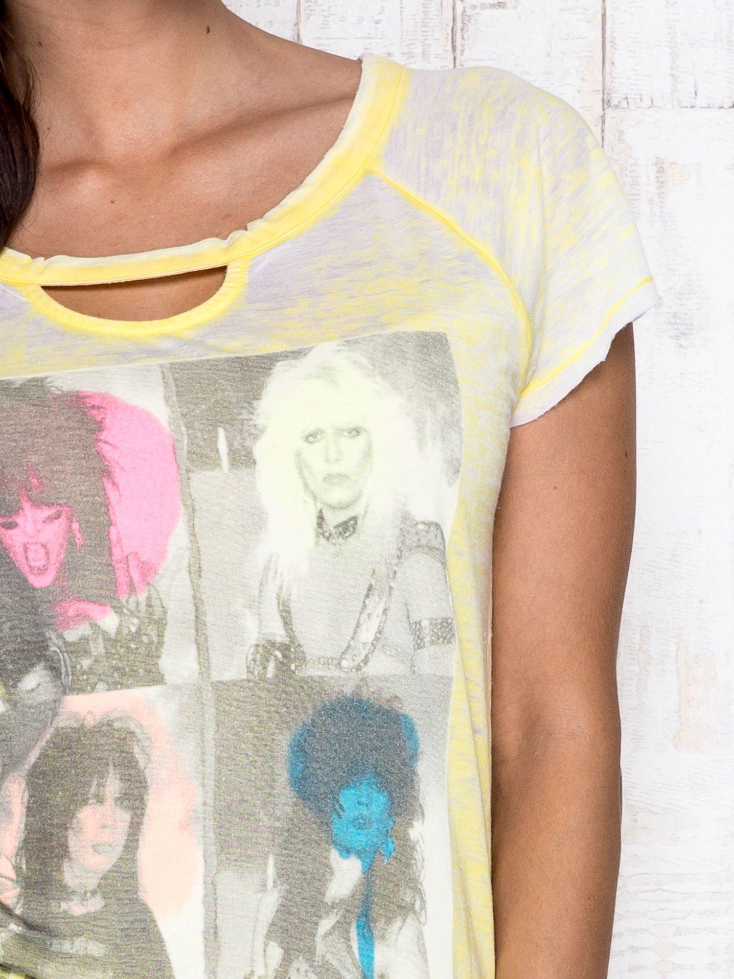 Żółty t-shirt z nadrukiem Mötley Crüe                                  zdj.                                  6