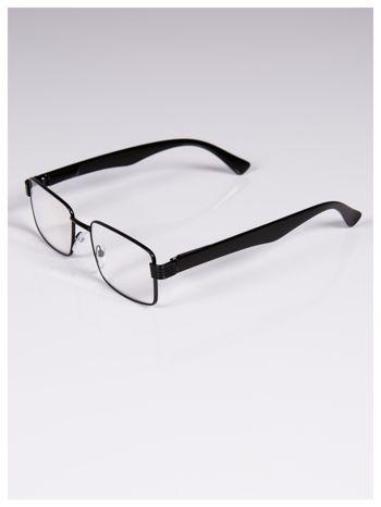 +2.5 D Delikatne czarne okulary korekcyjne do czytania z sytemem FLEX na zausznikach