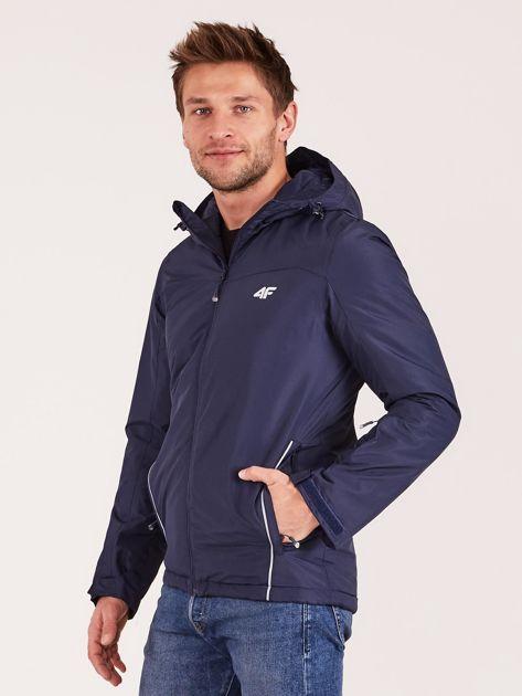 4F Granatowa kurtka narciarska dla mężczyzny                              zdj.                              3
