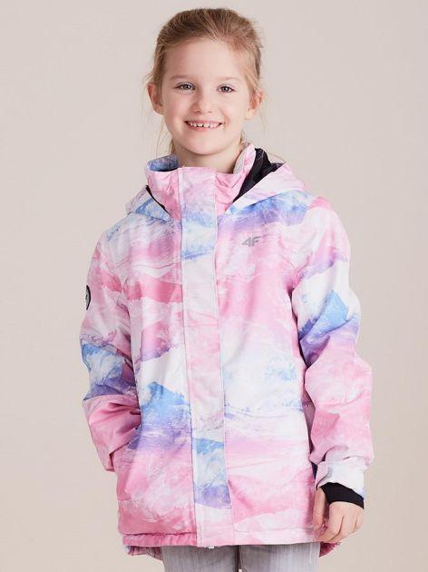 4F Kolorowa kurtka narciarska dla dziewczynki                              zdj.                              1