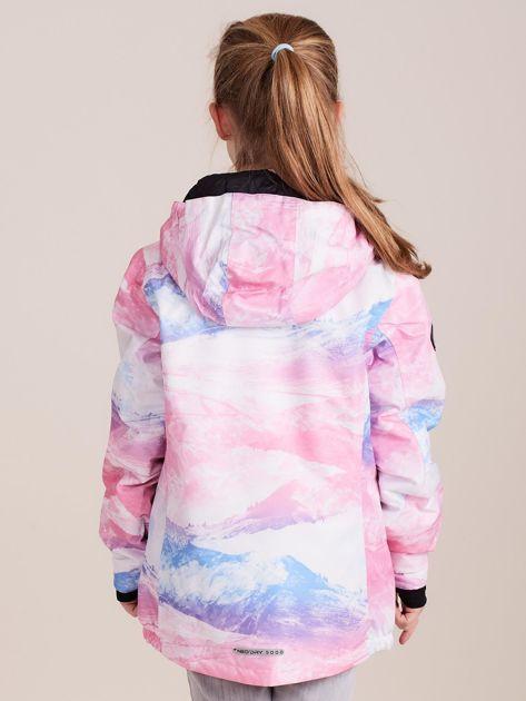 4F Kolorowa kurtka narciarska dla dziewczynki                              zdj.                              4