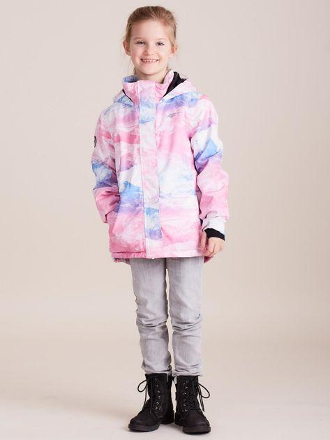 4F Kolorowa kurtka narciarska dla dziewczynki                              zdj.                              7