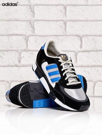 ADIDAS czarne buty męskie ZX 850 z niebieskimi modułami                              zdj.                              3