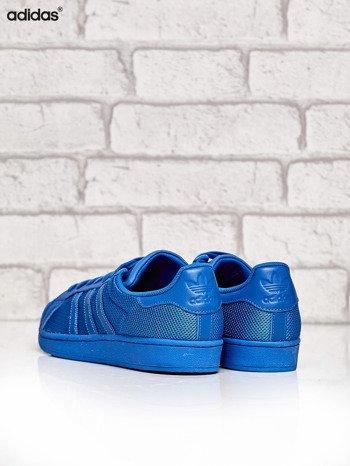 ADIDAS niebieskie buty męskie Superstar Blue z dziurkowaną fakturą                              zdj.                              4