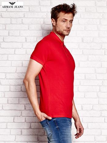 ARMANI JEANS Czerwona koszulka polo męska                                  zdj.                                  2