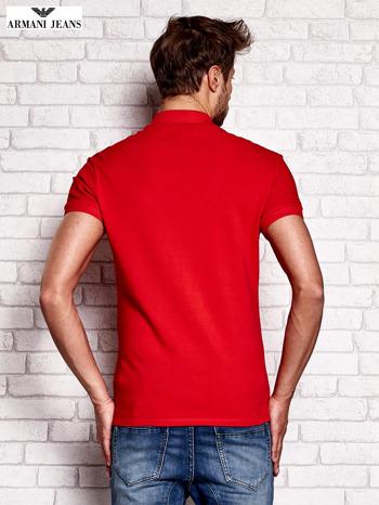 ARMANI JEANS Czerwona koszulka polo męska                                  zdj.                                  3