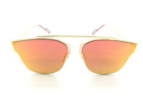 ASPEZO Okulary przeciwsłoneczne damskie pomarańczowe HAWAII Etui skórzane, etui miękkie oraz ściereczka z mikrofibry w zestawie                              zdj.                              1