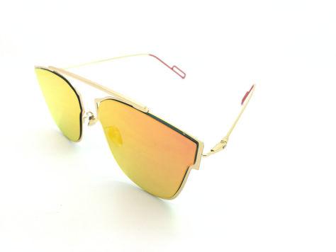 ASPEZO Okulary przeciwsłoneczne damskie pomarańczowe HAWAII Etui skórzane, etui miękkie oraz ściereczka z mikrofibry w zestawie                              zdj.                              2