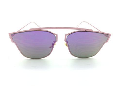 ASPEZO Okulary przeciwsłoneczne damskie purpurowe HAWAII Etui skórzane, etui miękkie oraz ściereczka z mikrofibry w zestawie