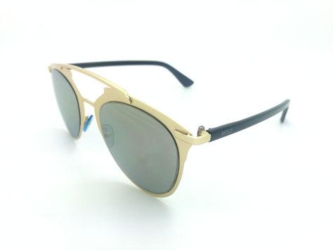 ASPEZO Okulary przeciwsłoneczne damskie złote MONTREAL. Etui skórzane, etui miękkie oraz ściereczka z mikrofibry w zestawie                              zdj.                              2