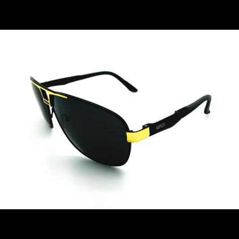 ASPEZO Okulary przeciwsłoneczne unisex POLARYZACYJNE złote FLORIDA Etui skórzane, etui miękkie oraz ściereczka z mikrofibry w zestawie                              zdj.                              2