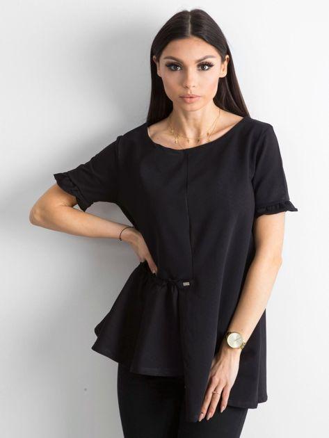 Asymetryczna bluzka czarna                              zdj.                              1