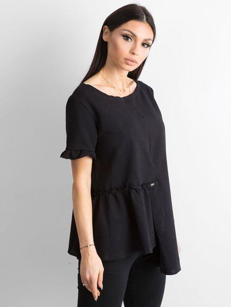 Asymetryczna bluzka czarna                              zdj.                              3