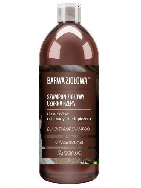 BARWA Ziołowa Szampon do włosów Czarna Rzepa - włosy osłabione i z łupieżem 480 ml