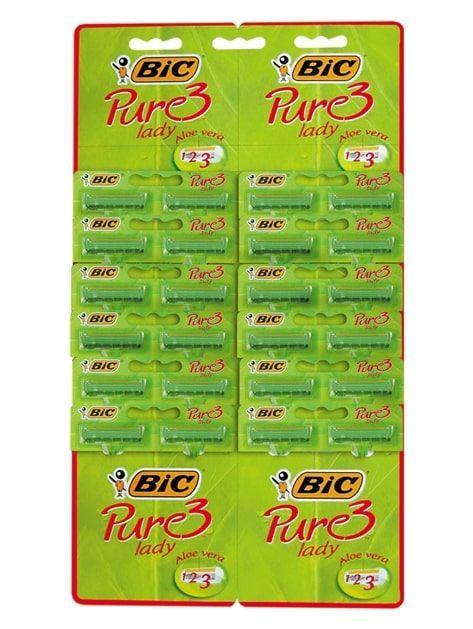BIC Maszynka do golenia Pure 3 Lady zielona - taśma 24 szt.