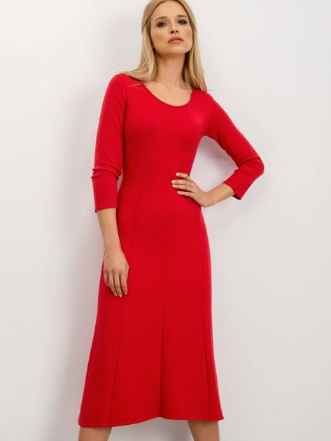 BSL Czerwona sukienka damska                              zdj.                              1