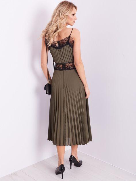 BY O LA LA Khaki wieczorowa sukienka maxi                              zdj.                              3