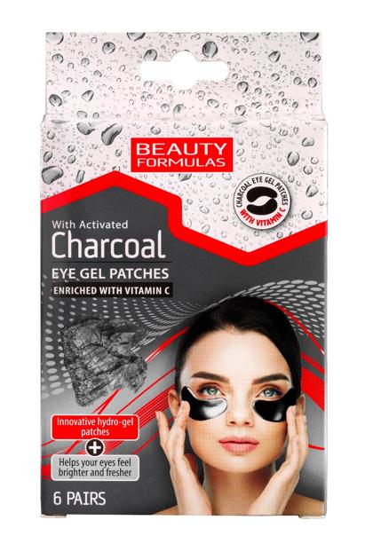 """Beauty Formulas Charcoal Żelowe Płatki pod oczy z aktywnym węglem 1op-6szt"""""""