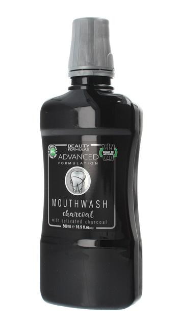"Beauty Formulas Mouthwash Płyn do płukania jamy ustnej Charcoal  500ml"""