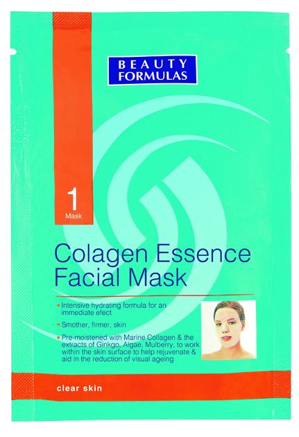"""Beauty Formulas Skin Care Kolagenowa maseczka do twarzy"""""""