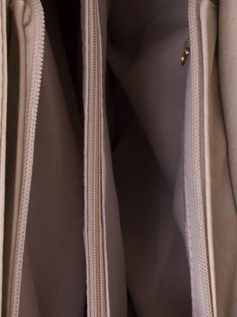 Beżowa ażurowa torba na ramię                                  zdj.                                  4