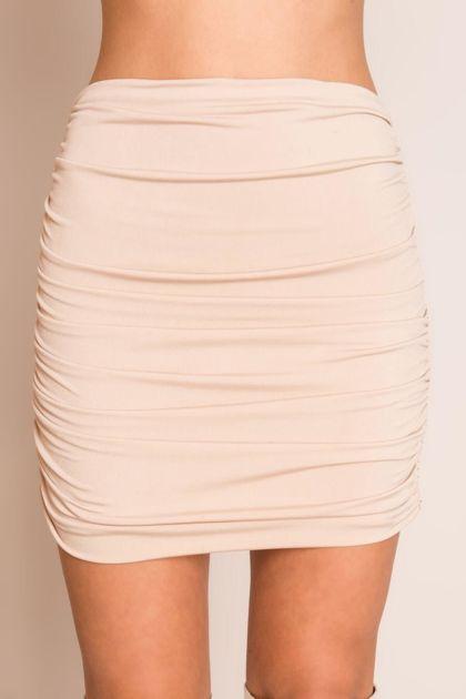 Beżowa krótka spódnica BSL