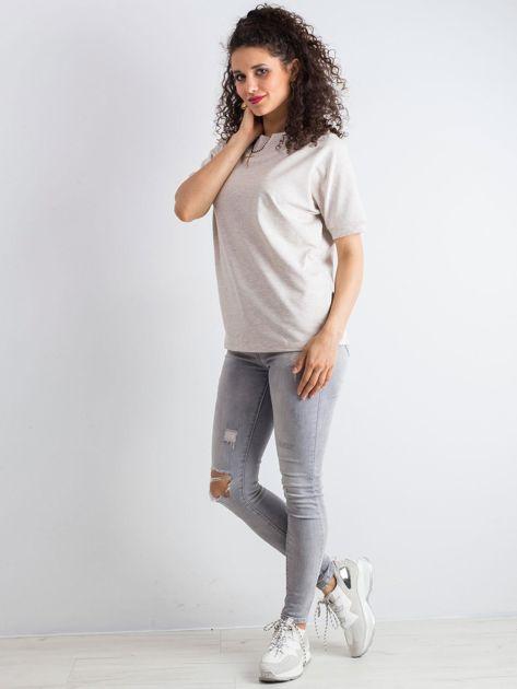 Beżowa melanżowa bluzka Lemontree                              zdj.                              4