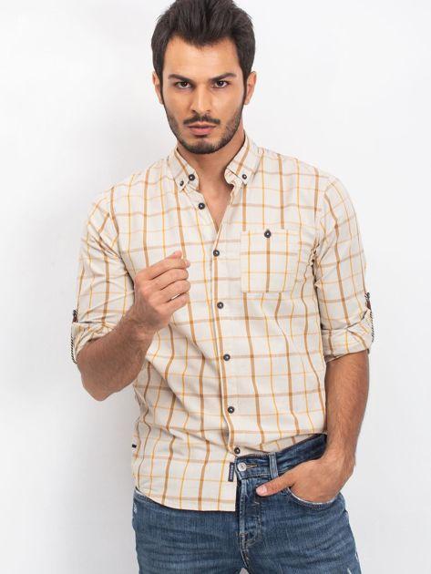 Beżowa męska koszula Riwised