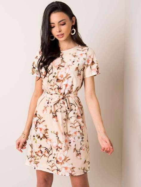 Beżowa sukienka Delfee