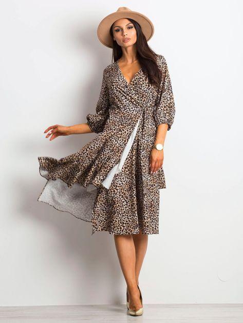Beżowa sukienka Expanding