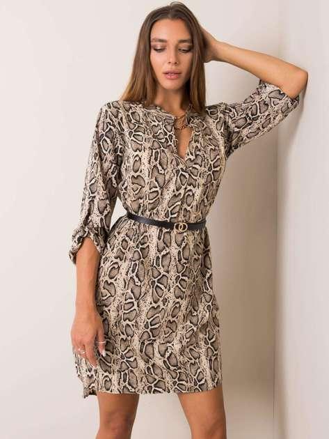 Beżowa sukienka Leticia