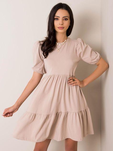 Beżowa sukienka Perla RUE PARIS