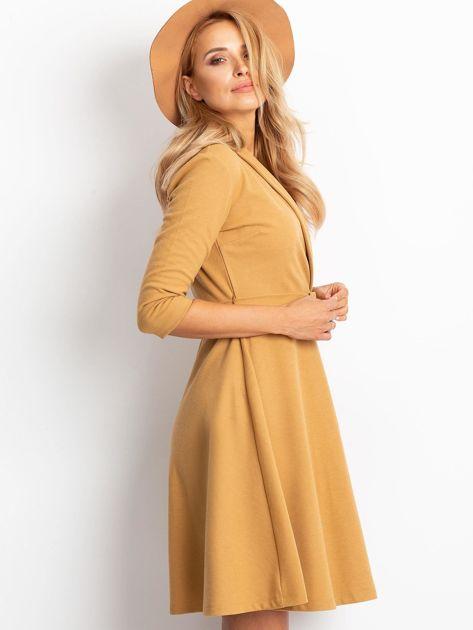 Beżowa sukienka Special                              zdj.                              3