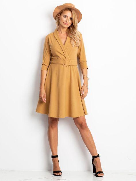 Beżowa sukienka Special                              zdj.                              4