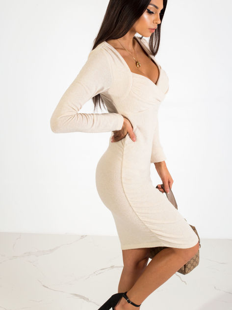 Beżowa sukienka Swan                              zdj.                              3