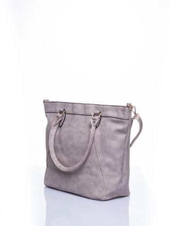 Beżowa torba city bag na ramię                                  zdj.                                  3