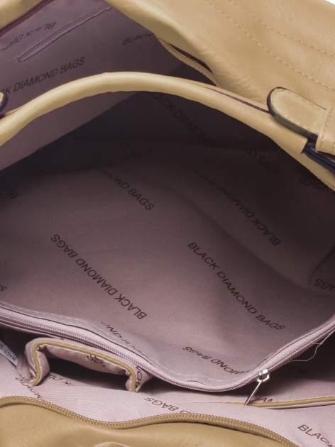 Beżowa torba hobo na ramię                                  zdj.                                  4