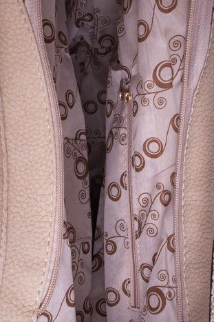 Beżowa torba hobo z klamerkami                                  zdj.                                  5
