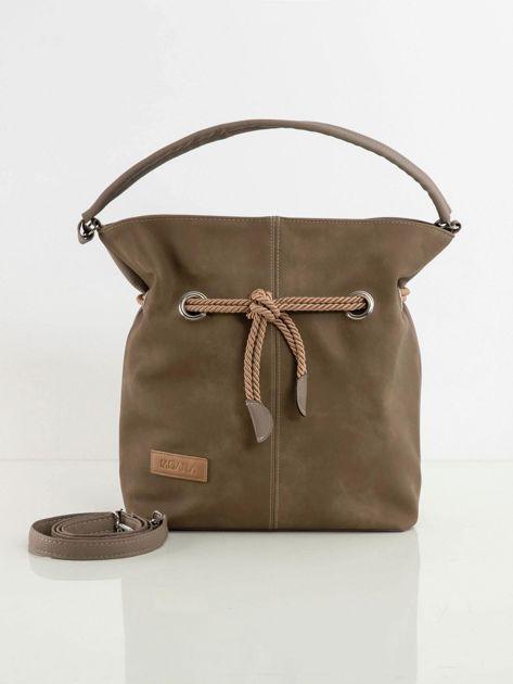 Beżowa torba z ekoskóry