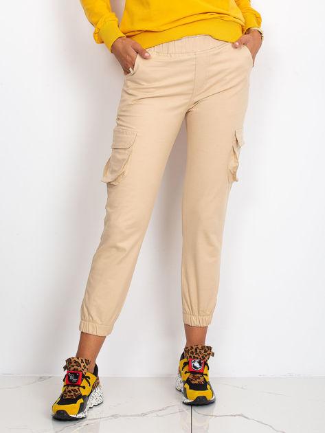 Beżowe spodnie Sally                              zdj.                              1
